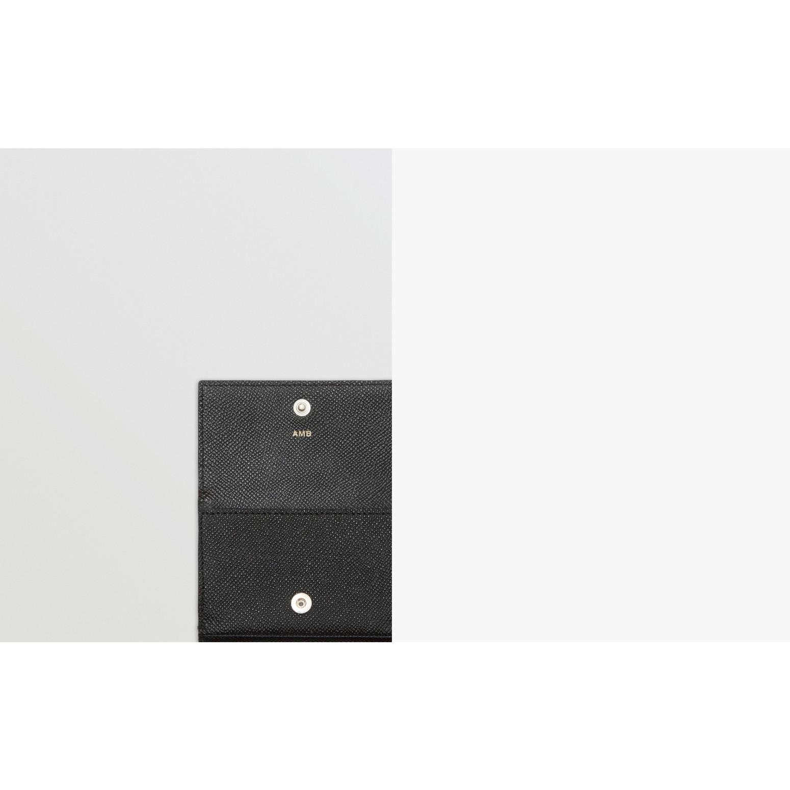 Petit portefeuille à rabat en cuir grainé (Noir) - Homme | Burberry - photo de la galerie 1