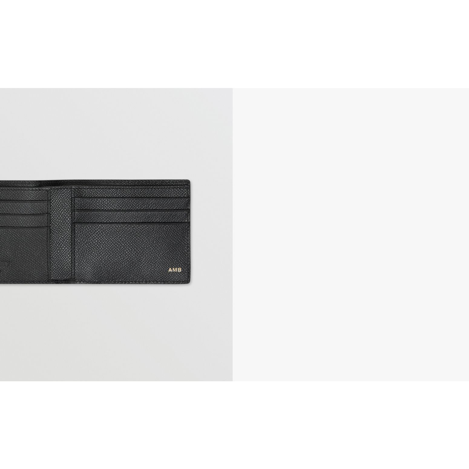 Grainy Leather Bifold Wallet in Black - Men | Burberry Canada - gallery image 1