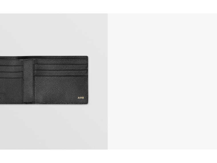 Grainy Leather Bifold Wallet in Black - Men | Burberry Canada - cell image 1