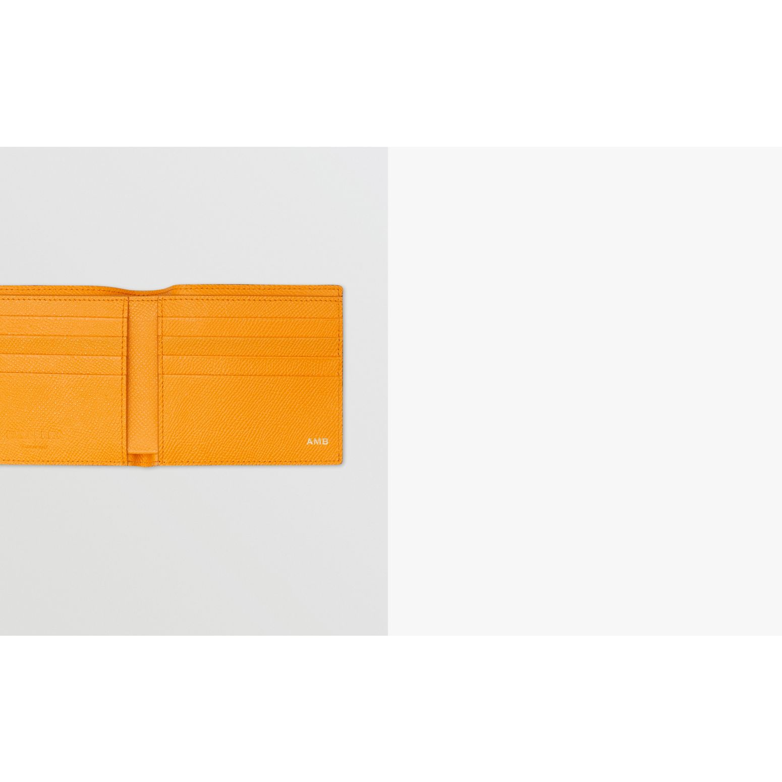 Leather International Bifold Wallet in Bright Orange - Men | Burberry - gallery image 1