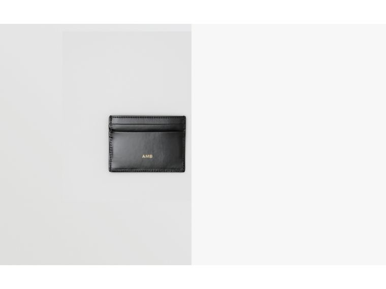 Logo Graphic Canvas Card Case in Black - Men | Burberry Australia - cell image 1