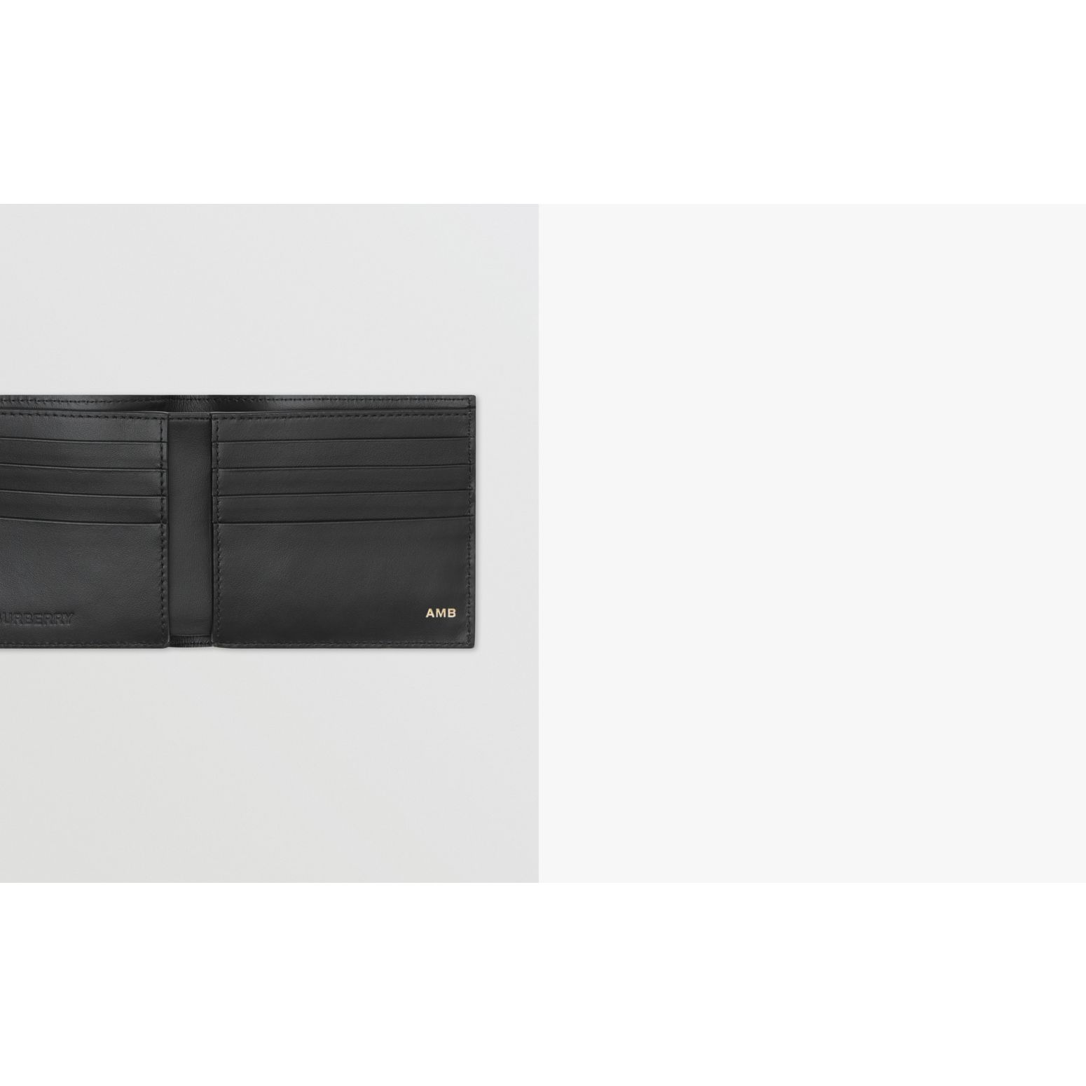 Logo Graphic Canvas International Bifold Wallet in Black | Burberry - gallery image 1