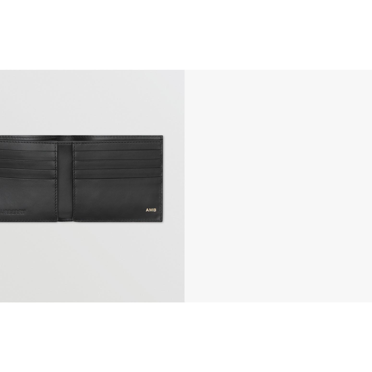 Logo Graphic Canvas International Bifold Wallet in Black - Men | Burberry Canada - gallery image 1