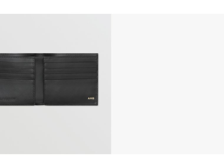 Logo Graphic Canvas International Bifold Wallet in Black - Men | Burberry United Kingdom - cell image 1