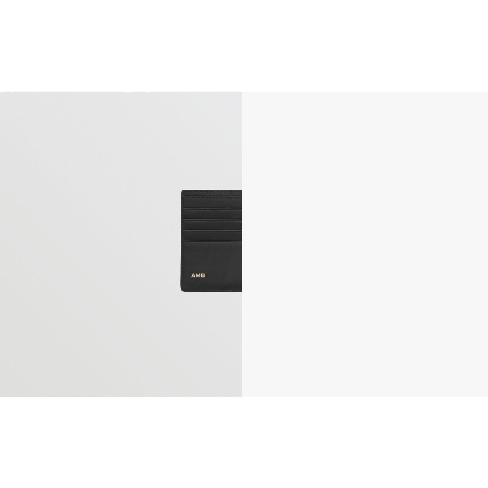 Portefeuille à rabat multidevise London check avec logo (Anthracite Sombre) - Homme | Burberry - photo de la galerie 1