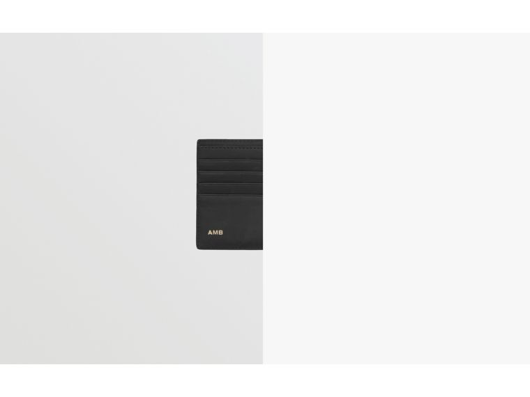 Portefeuille à rabat multidevise London check avec logo (Anthracite Sombre) - Homme | Burberry - cell image 1