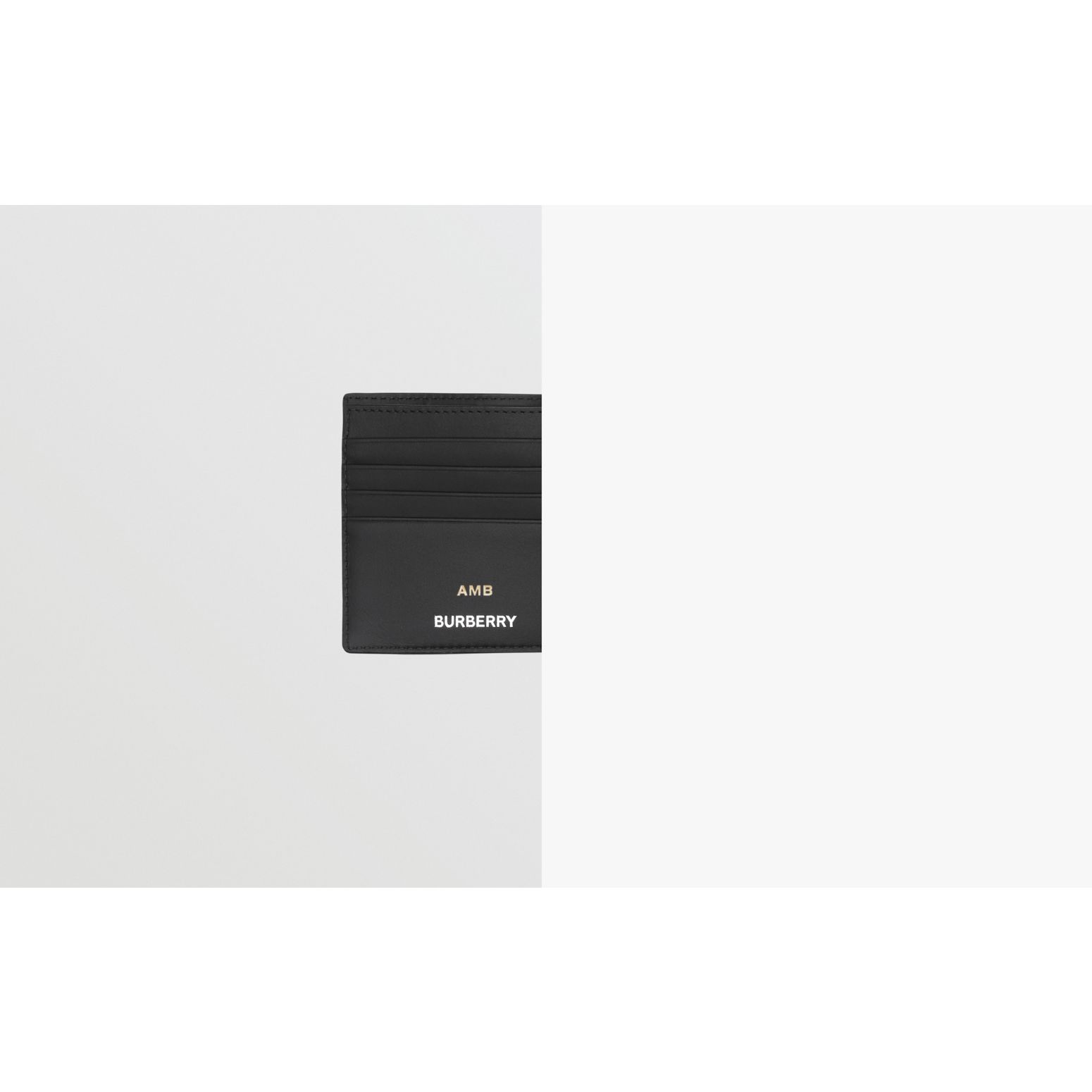 Logo Graphic International Bifold Coin Wallet in Dark Charcoal - Men | Burberry - gallery image 1