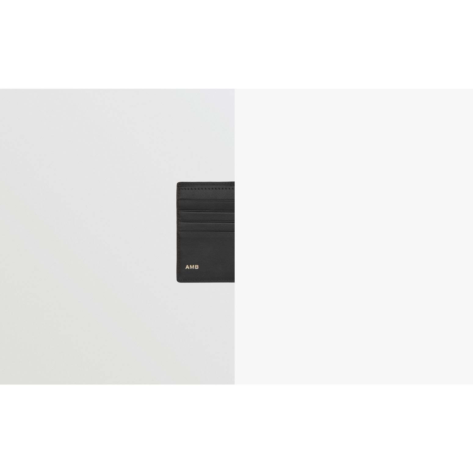 ロンドンチェック&レザー インターナショナル バイフォールドウォレット (ネイビー) - メンズ | バーバリー - ギャラリーイメージ 1