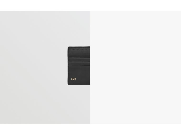 ロンドンチェック&レザー インターナショナル バイフォールドウォレット (ネイビー) - メンズ | バーバリー - cell image 1