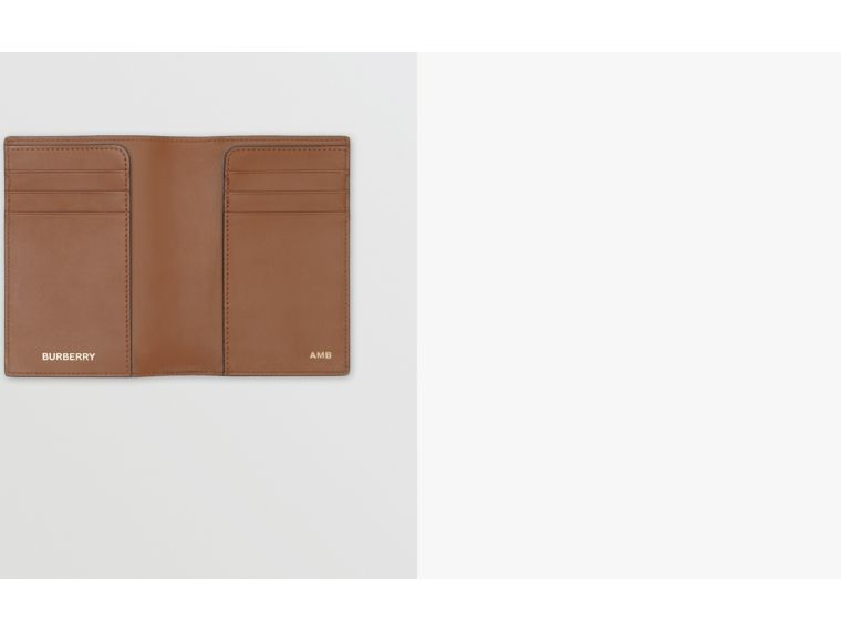 Monogram Print E-canvas Passport Holder in Bridle Brown - Men | Burberry - cell image 1