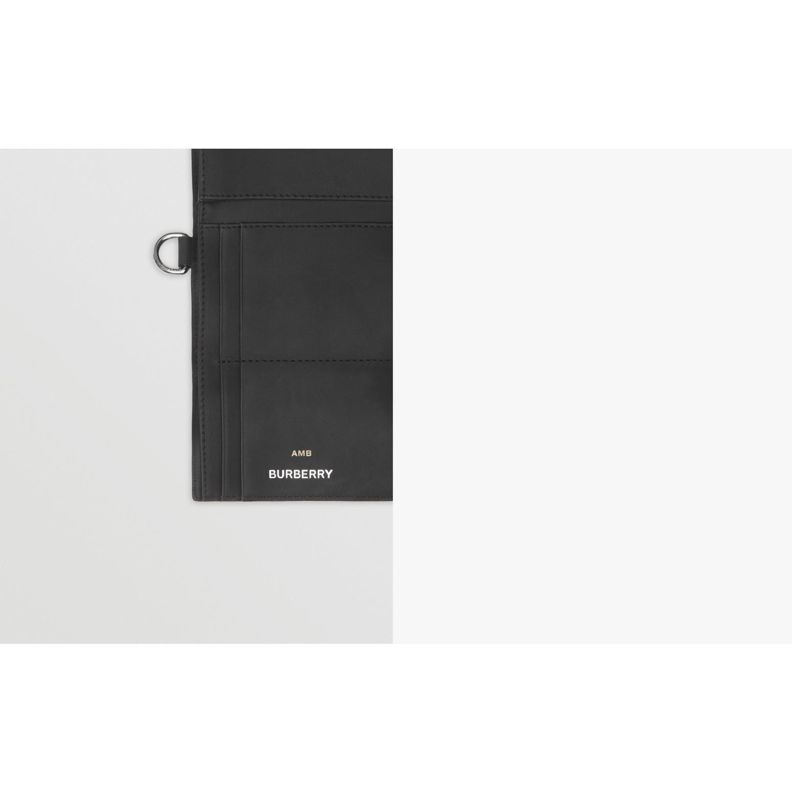 Cartera plegable pequeña a cuadros London Checks (Gris Marengo Oscuro) - Hombre | Burberry - imagen de la galería 1