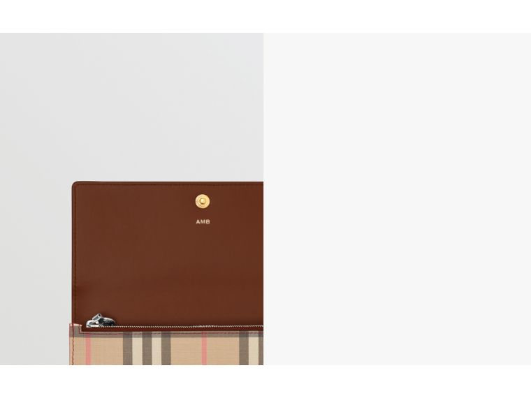 Icon Stripe E-canvas Continental Wallet in Archive Beige - Women | Burberry - cell image 1