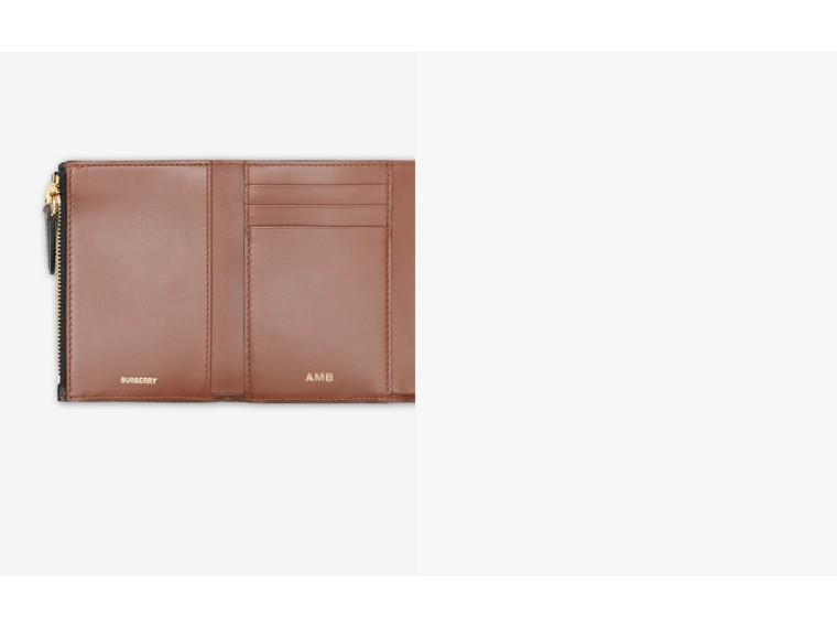 Small Icon Stripe E-canvas Folding Wallet in Archive Beige - Women | Burberry United Kingdom - cell image 1