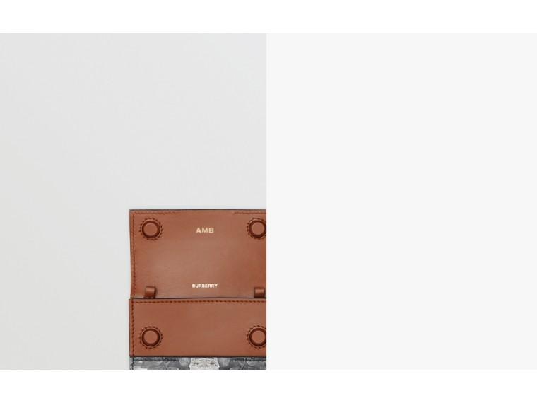 Kartenetui aus Leder mit Affenmotiven und Kettenriemen (Schwarz/weiß) | Burberry - cell image 1