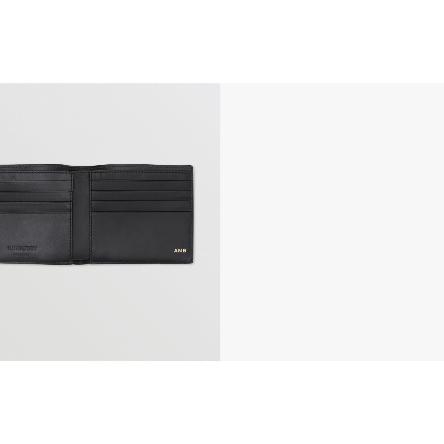ロゴ&アイコンストライププリント インターナショナル バイフォールドウォレット (ブラック) | バーバリー - ギャラリーイメージ 1