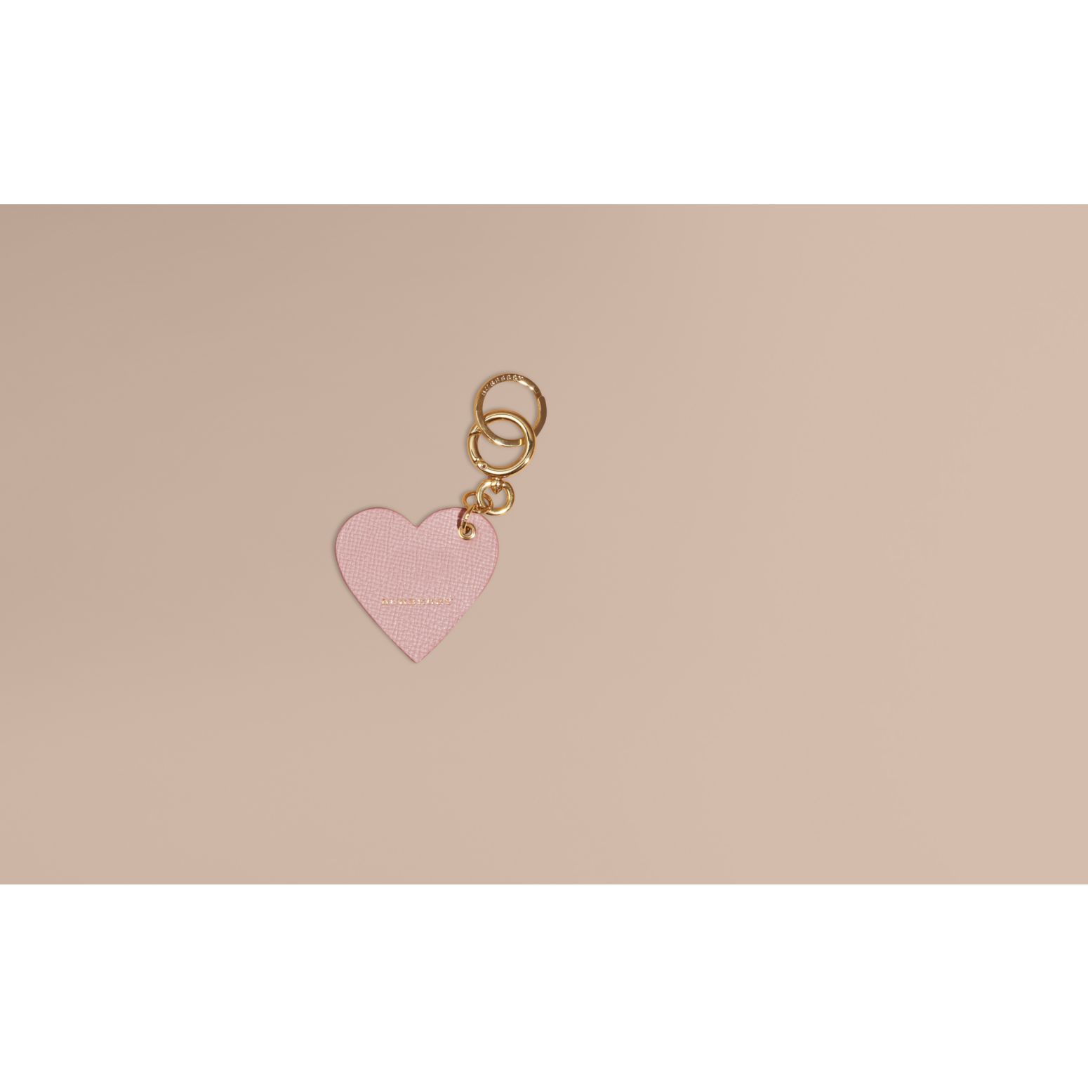Pink / pink Sequinned Heart Suede Key Charm - gallery image 2