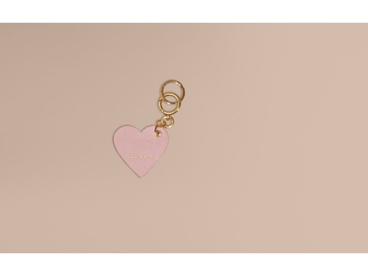 Pink / pink Sequinned Heart Suede Key Charm - cell image 1
