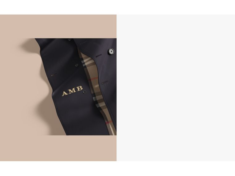 The Kensington – Long Heritage Trench Coat in Navy - Men | Burberry Canada - cell image 1