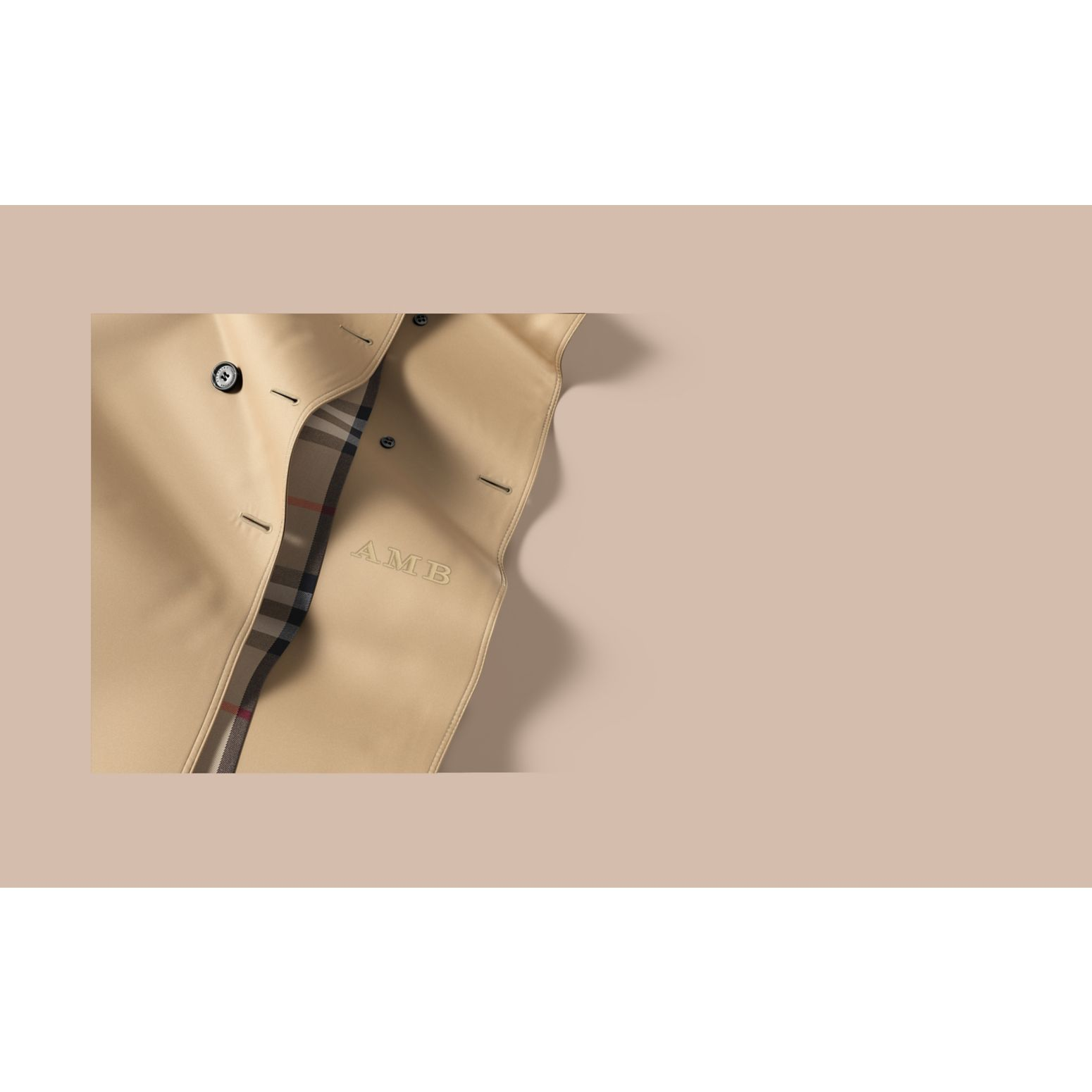 The Kensington - Trench coat Heritage medio (Miele) - Donna | Burberry - immagine della galleria 2