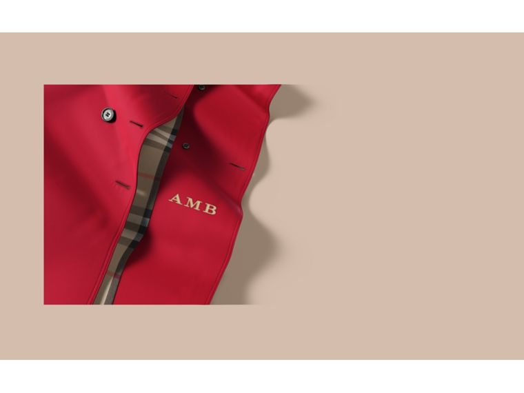 Trench coat Sandringham - Trench coat Heritage de longitud media Rojo Desfile - cell image 1