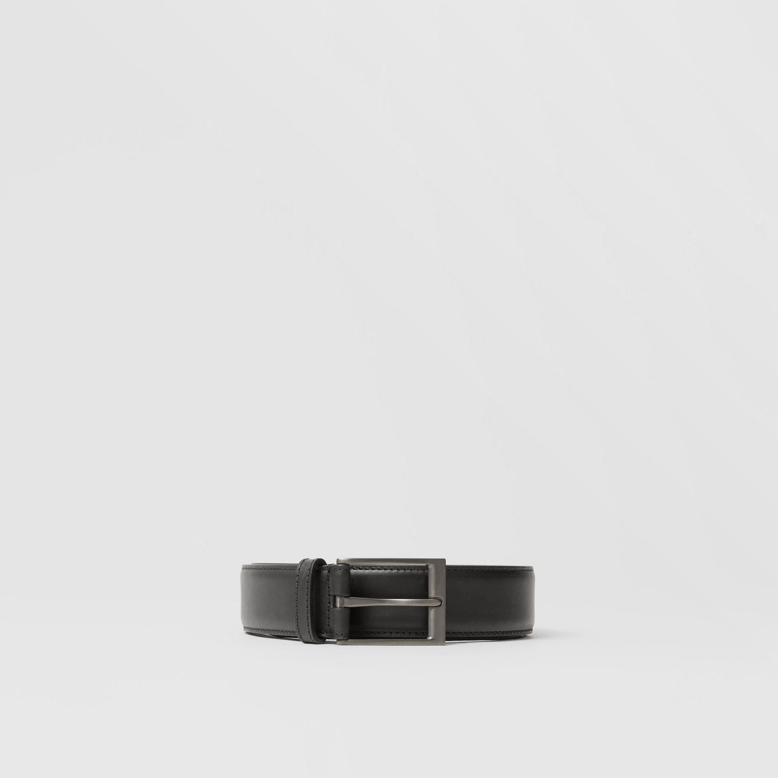 Leather Belt in Black - Men | Burberry - 4