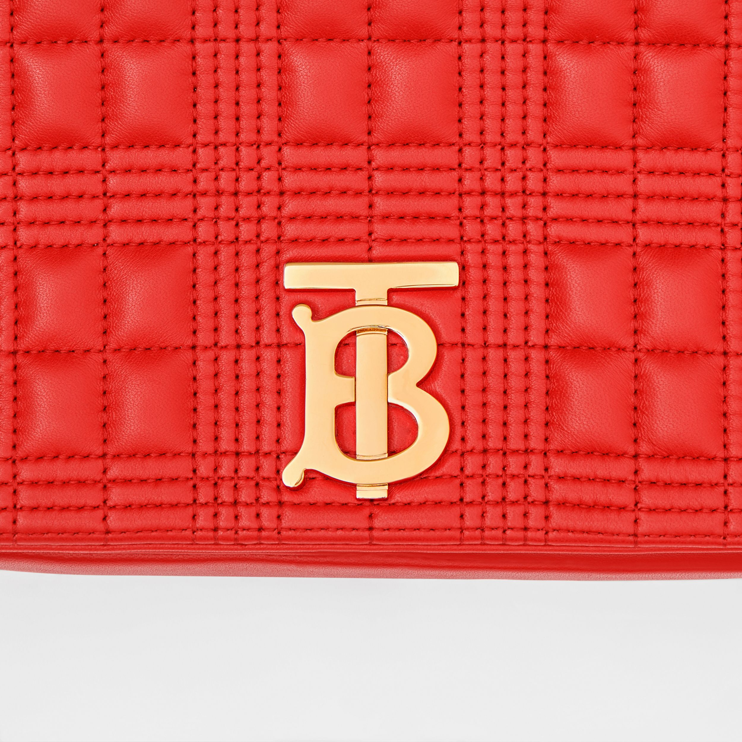 Small Quilted Lambskin Lola Bag in Bright Red - Women | Burberry - 2