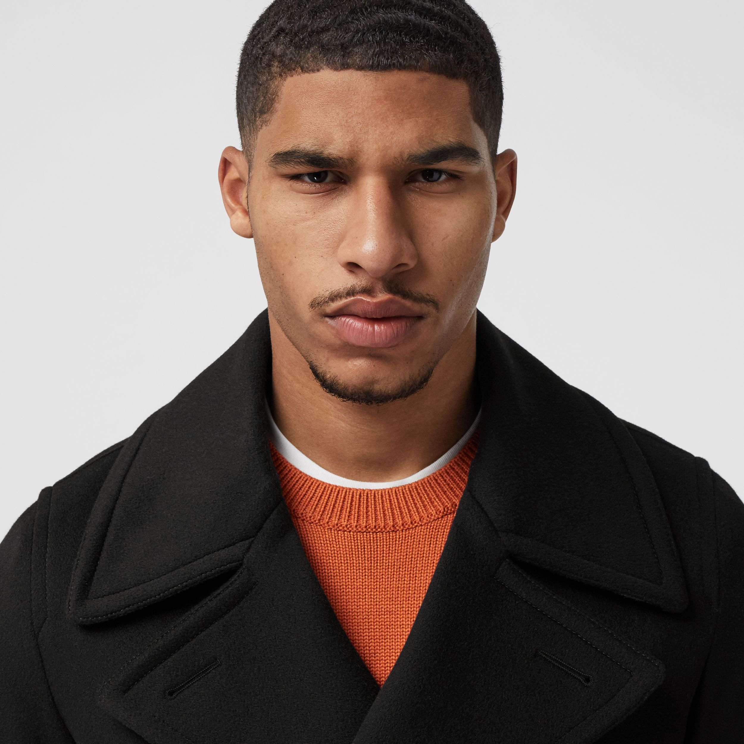 Cashmere Pea Coat in Black - Men | Burberry - 2