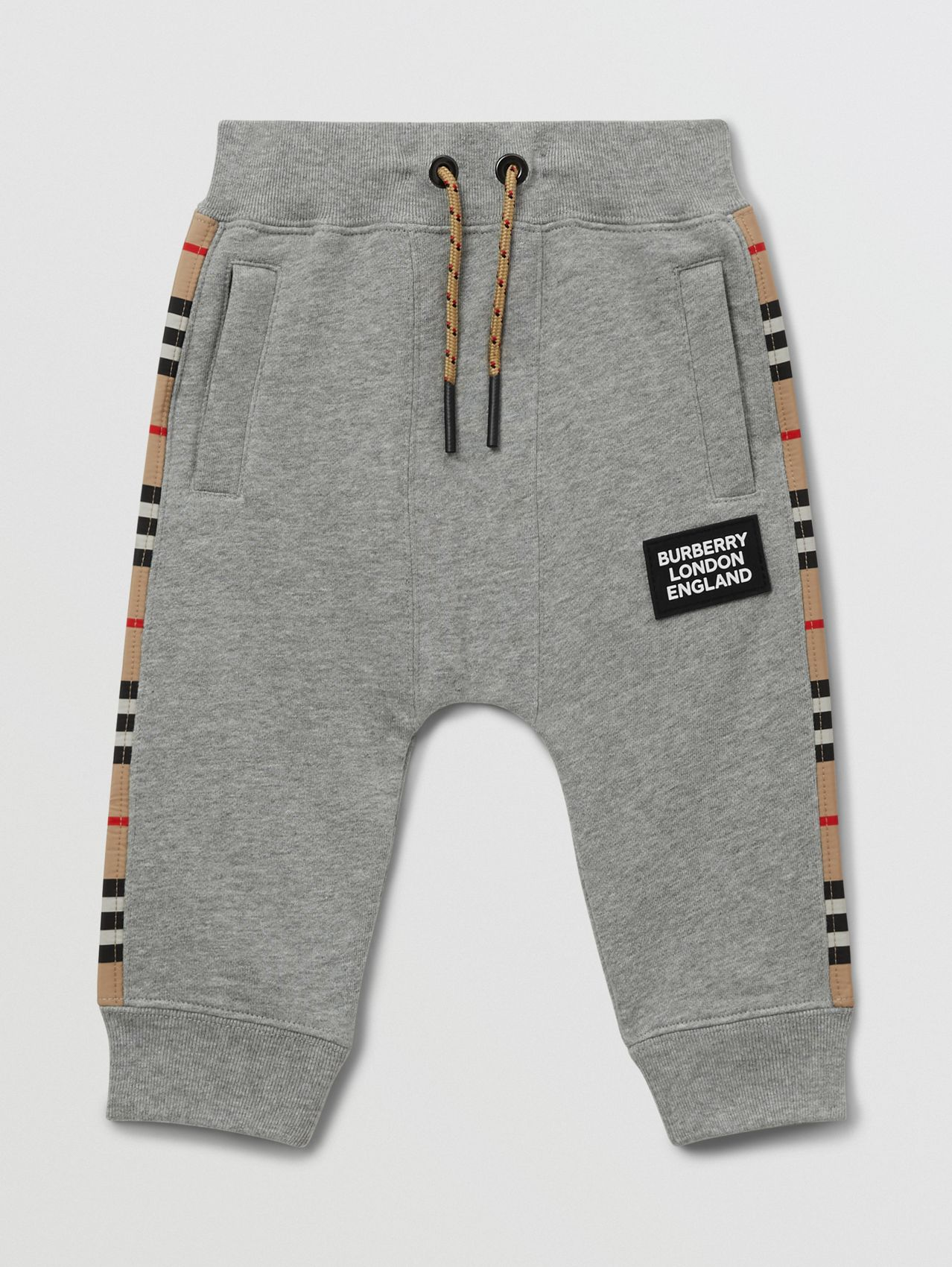 Icon Stripe Panel Cotton Trackpants