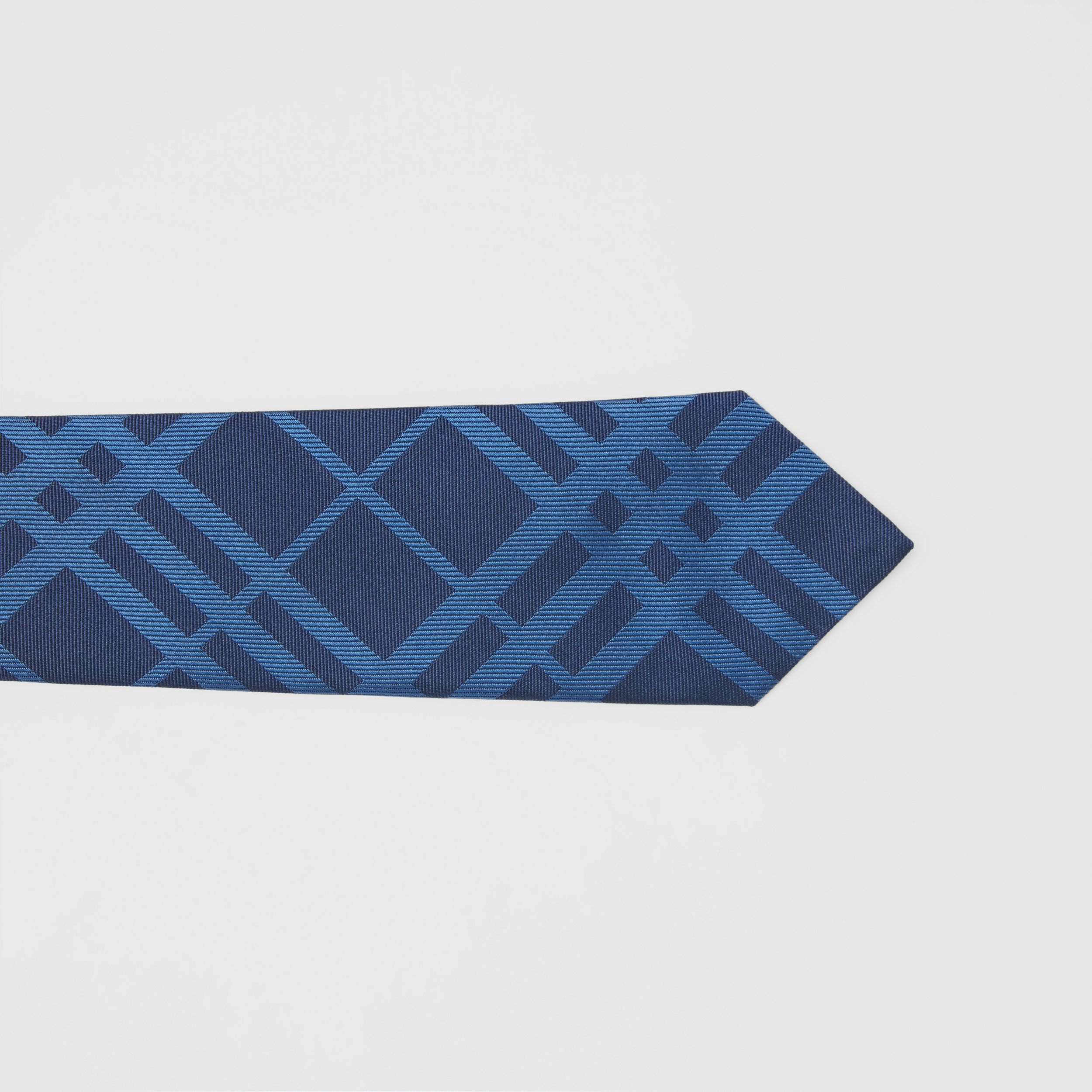 Classic Cut Check Silk Jacquard Tie in Ink Blue - Men | Burberry - 2