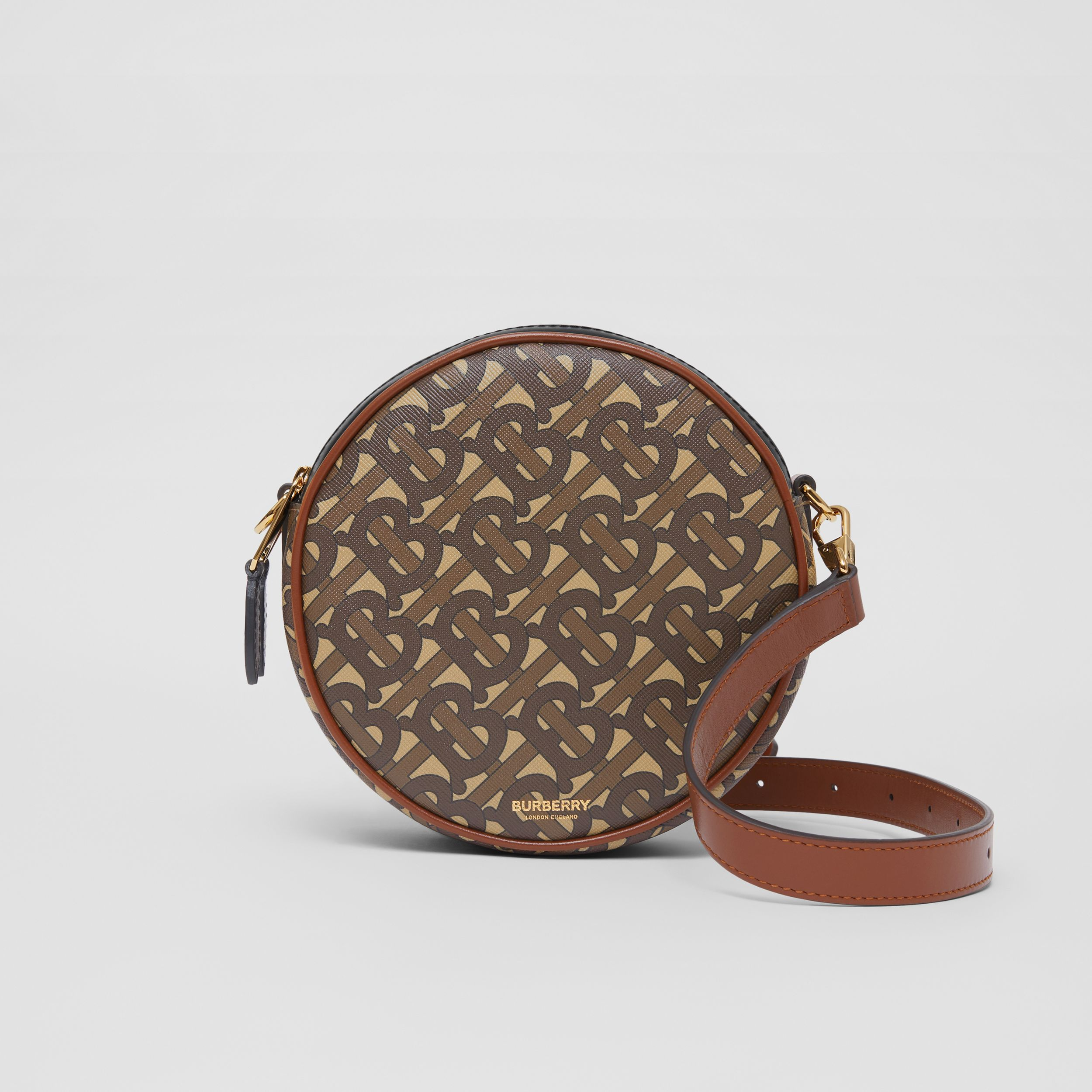 Monogram Print E-canvas Louise Bag in Bridle Brown - Women | Burberry Hong Kong S.A.R. - 1