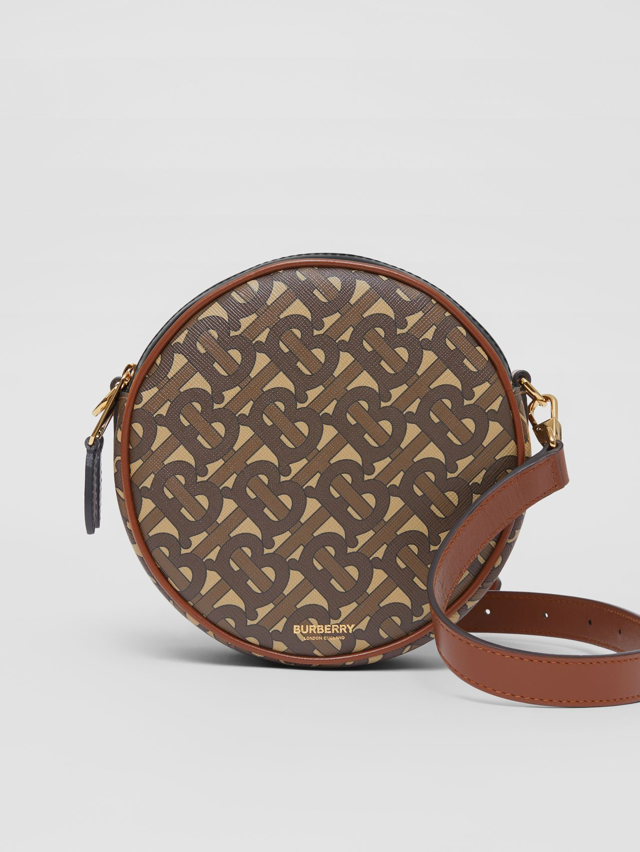 Monogram Print E-canvas Louise Bag in Bridle Brown
