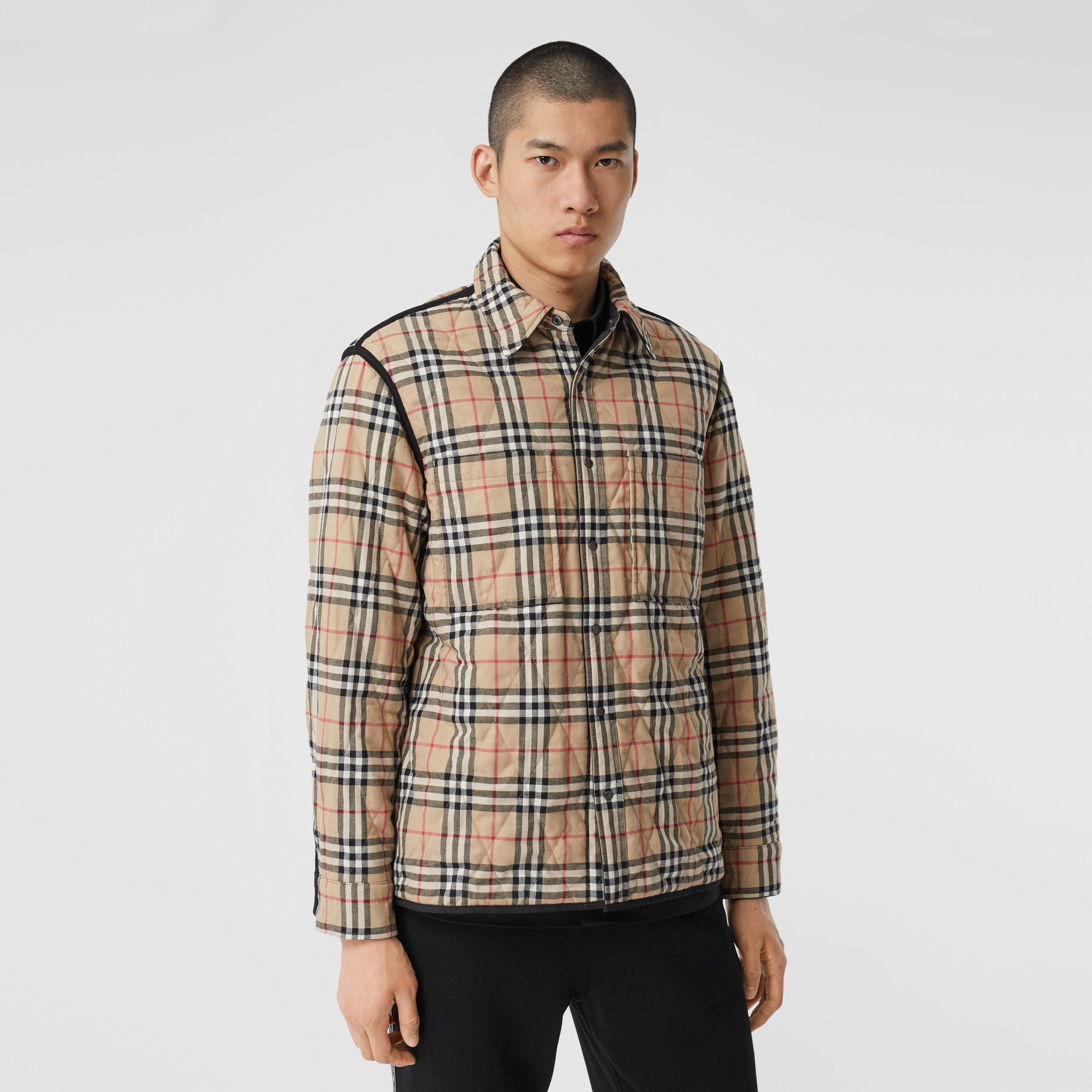 Reversible Quilted Vintage Check Cotton Overshirt - Men | Burberry - 2