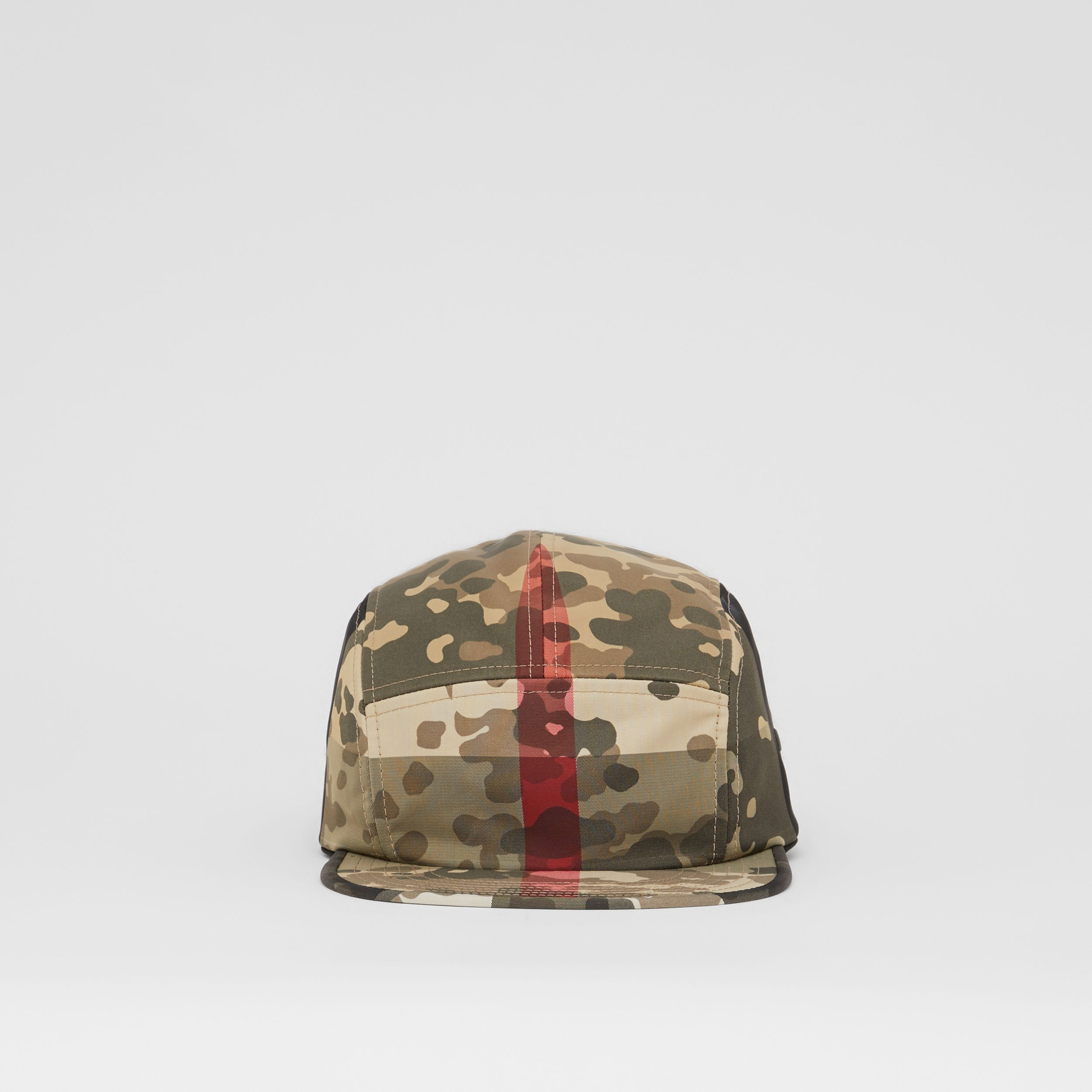 Camouflage Check Nylon Cap in Archive Beige | Burberry - 1