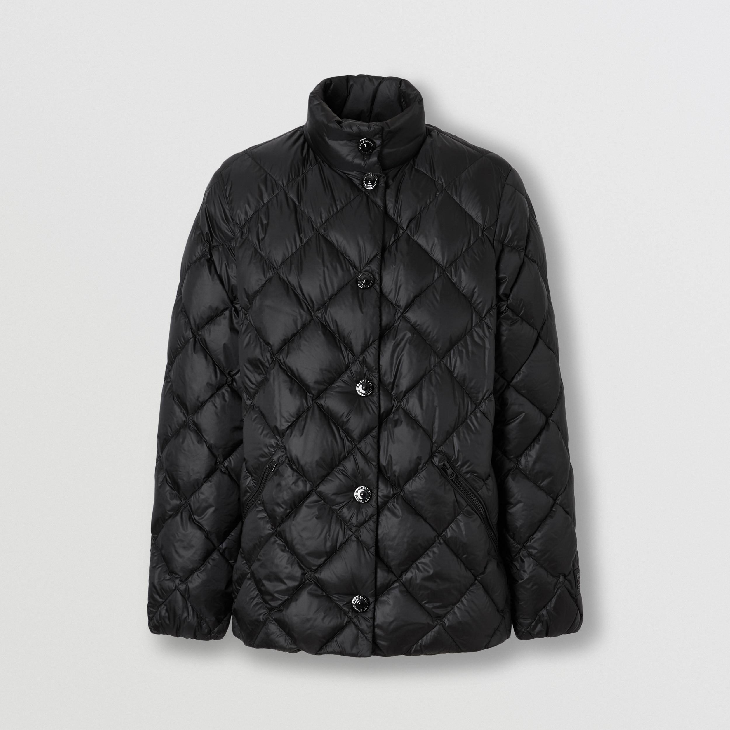 Diamond Quilted Down-filled Jacket in Black - Women | Burberry Australia - 4