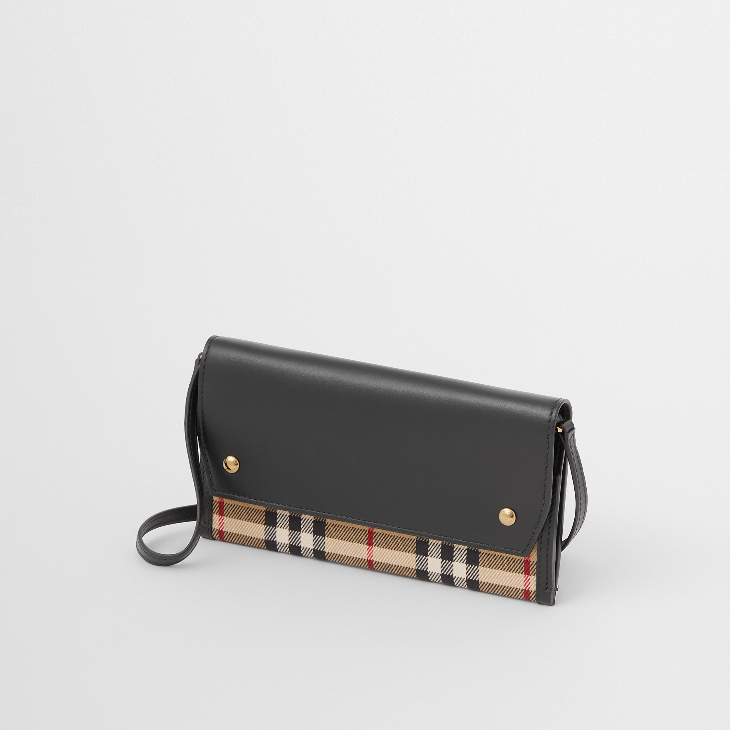 Vintage Check and Leather Phone Case with Strap in Archive Beige - Women | Burberry Canada - 3