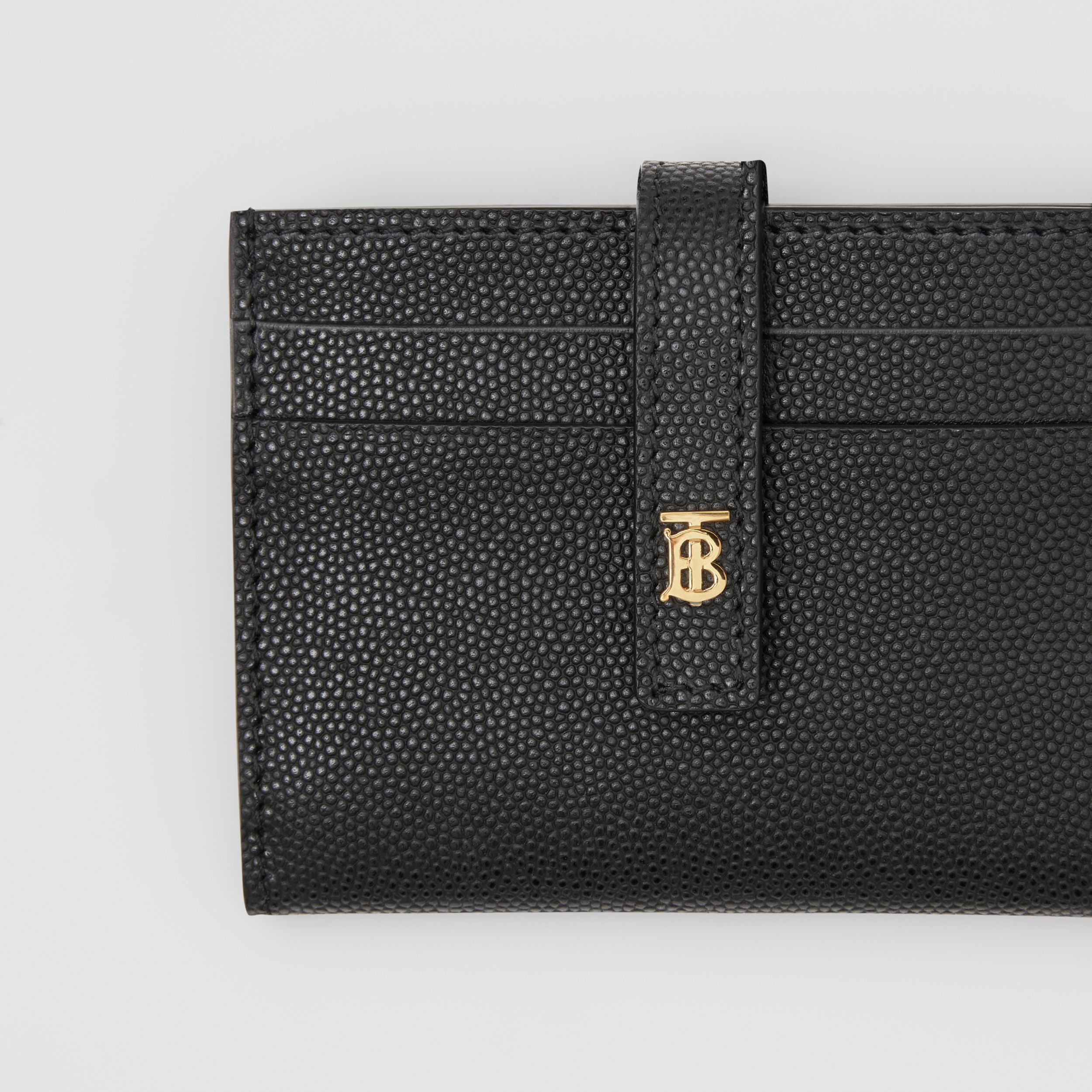 Monogram Motif Leather Folding Card Case in Black - Women | Burberry - 2
