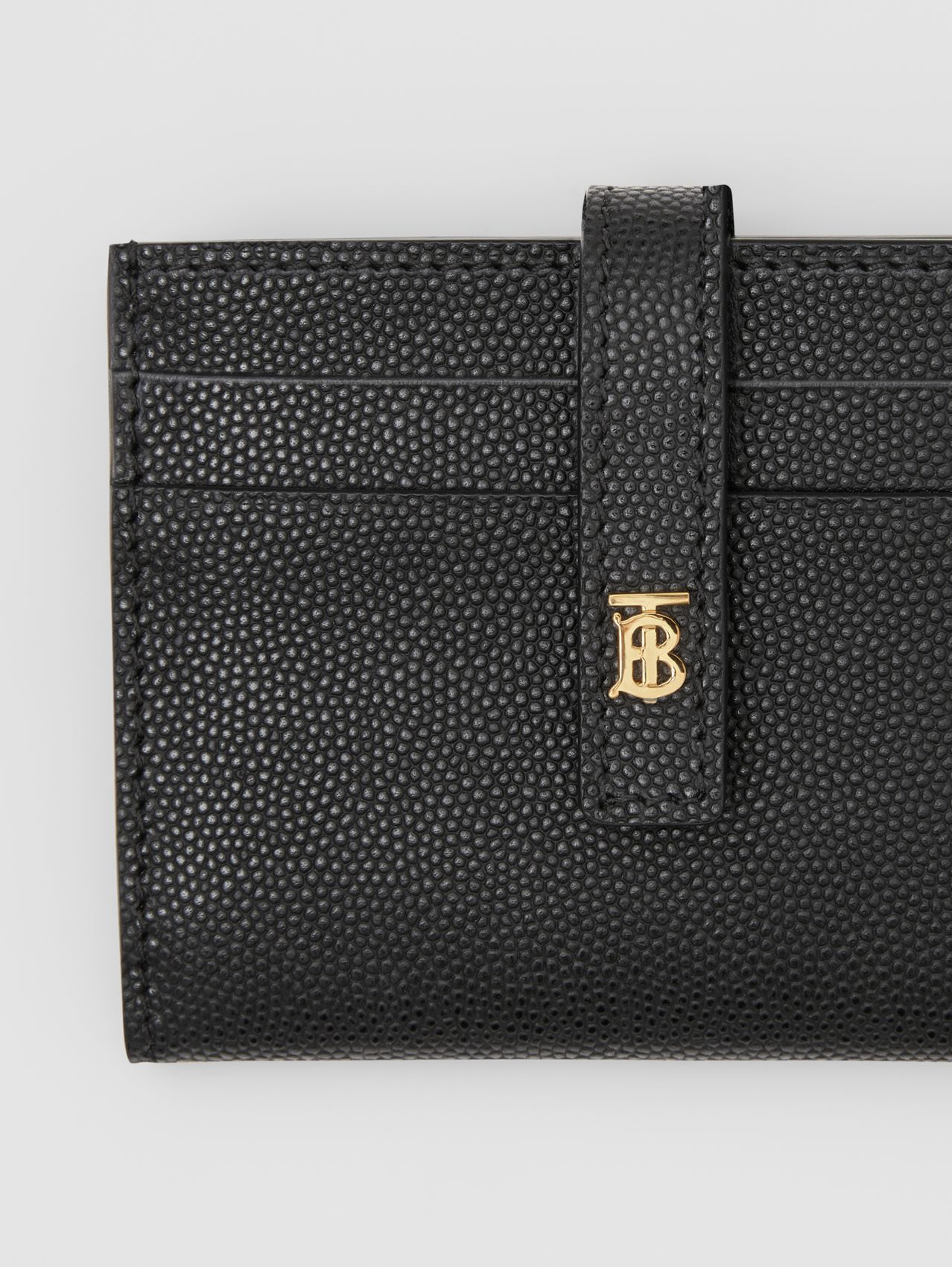 Monogram Motif Leather Folding Card Case in Black