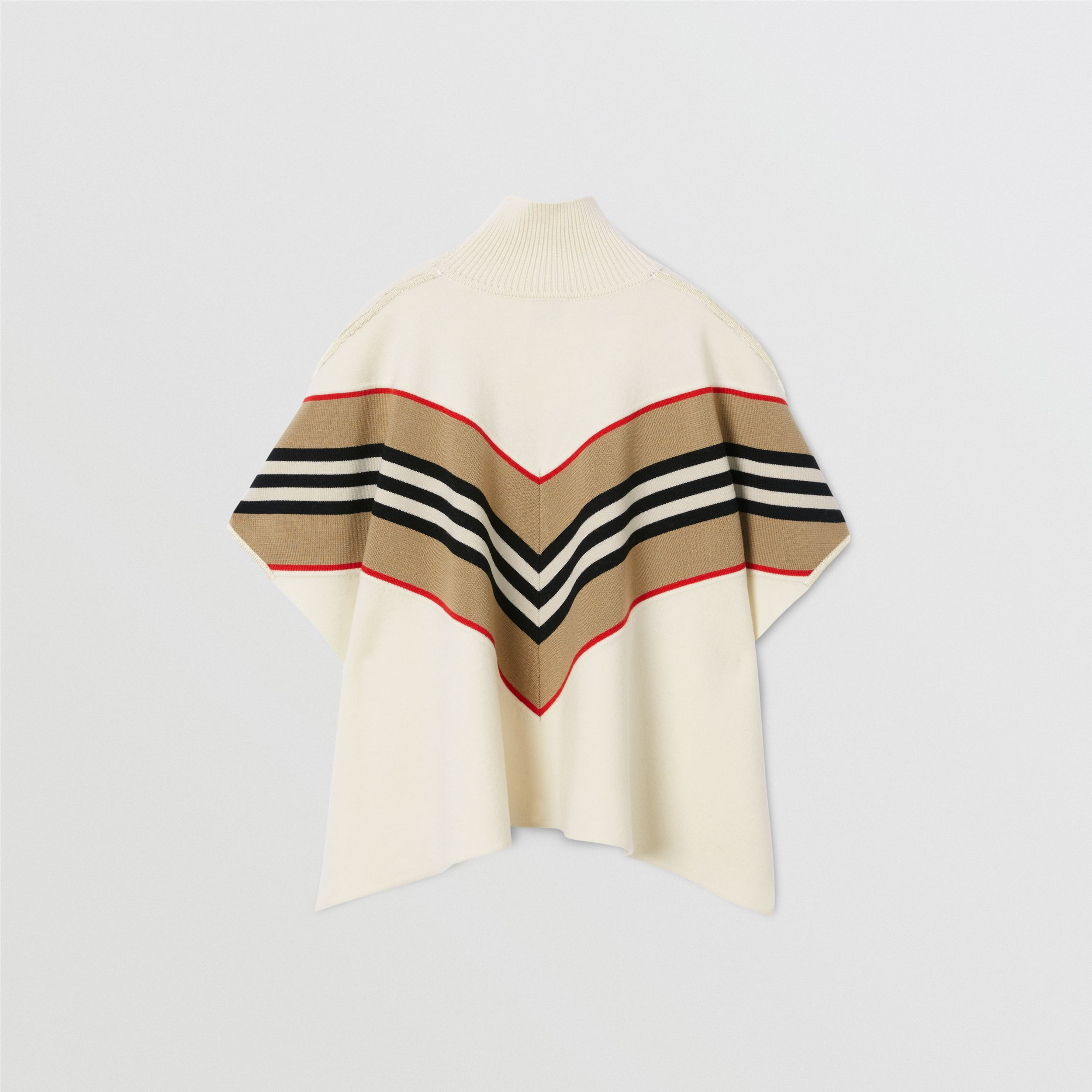 Icon Stripe Panel Wool Cashmere Blend Poncho | Burberry - 4