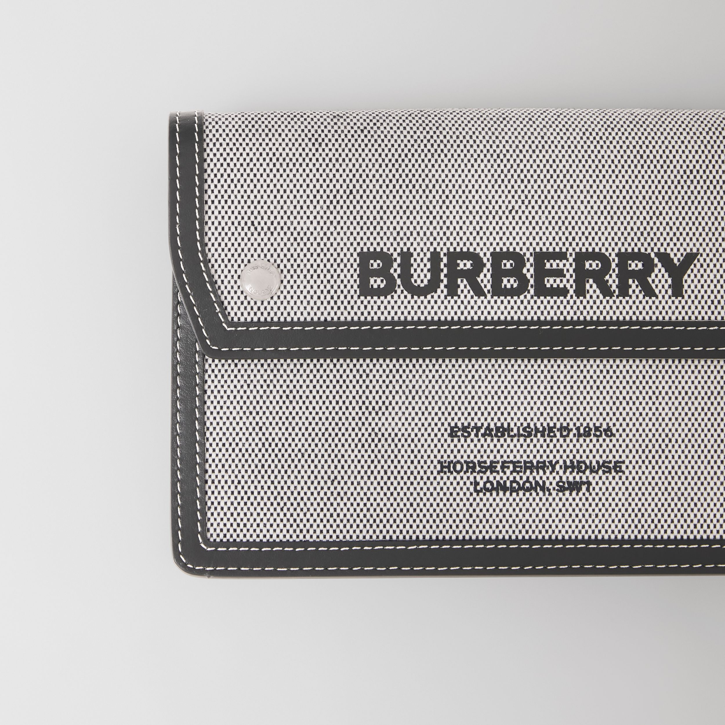 Horseferry Print Canvas and Leather Crossbody Bag in Black - Men | Burberry - 2