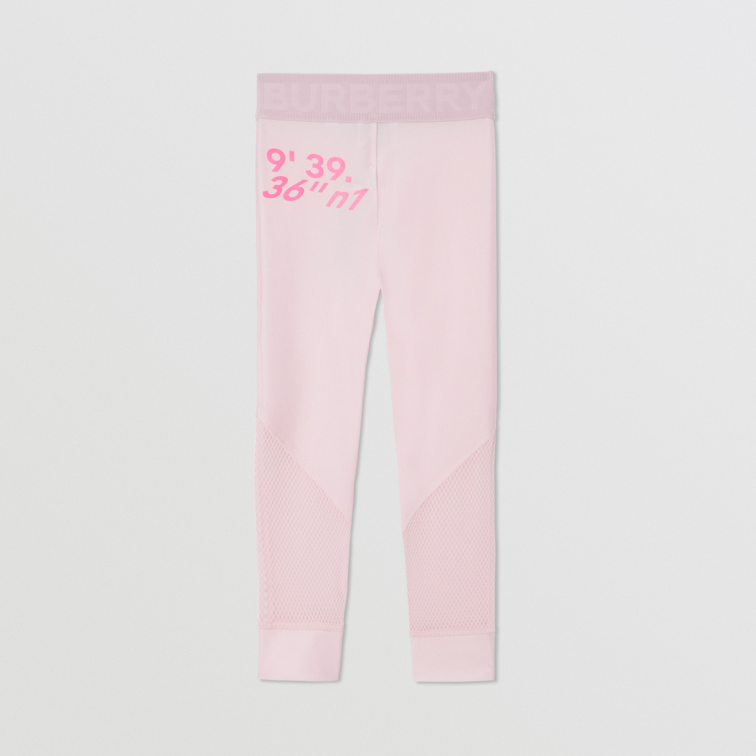 Montage Print Stretch Jersey Leggings in Cool Pink | Burberry - 4