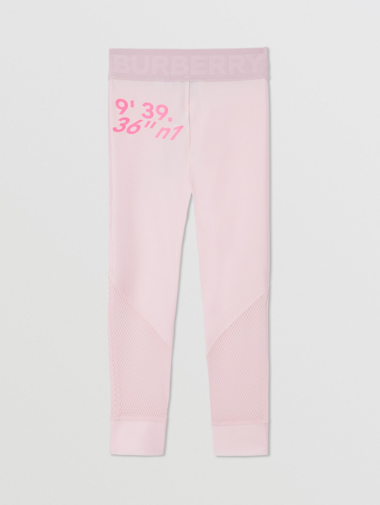 Montage Print Stretch Jersey Leggings in Cool Pink
