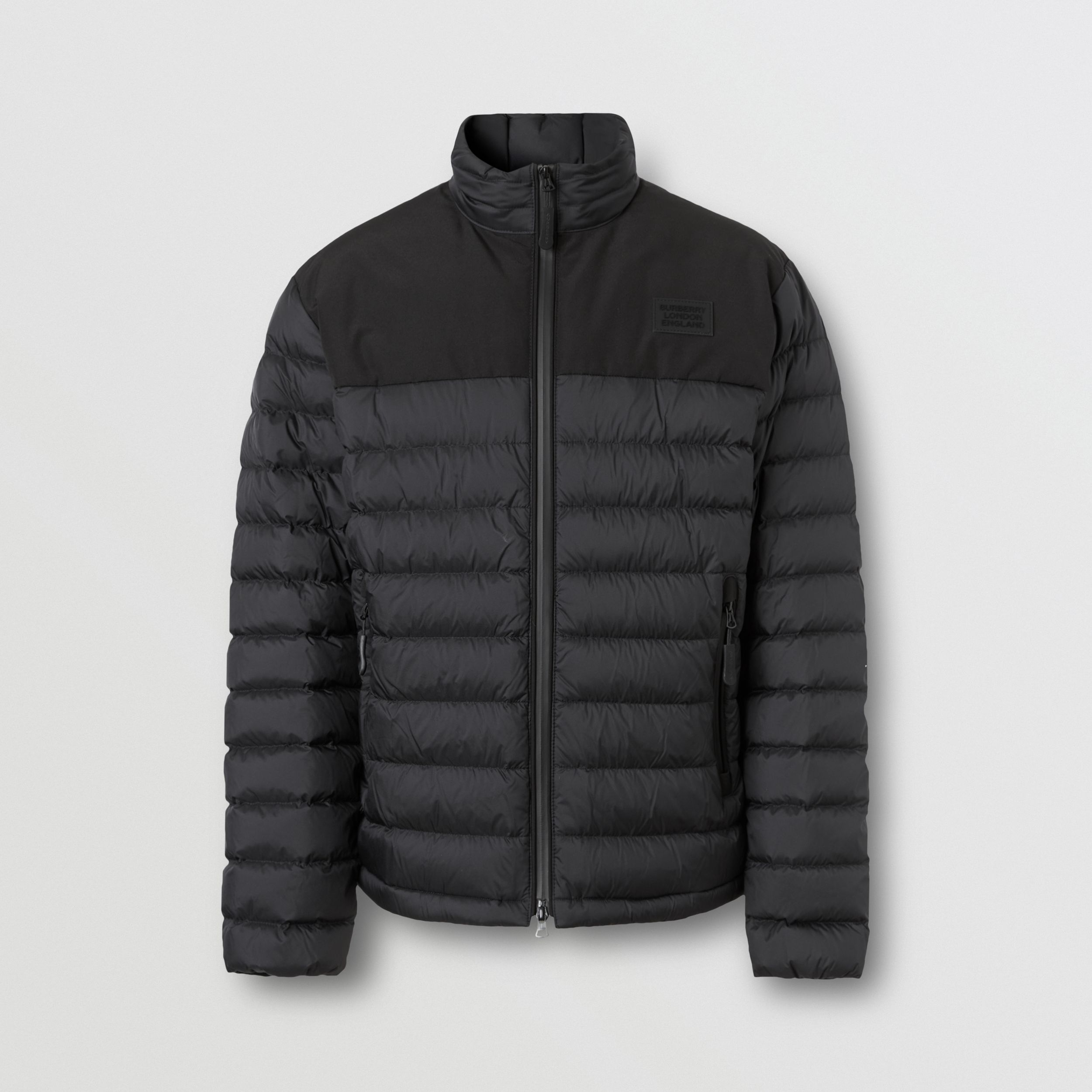 Logo Appliqué Lightweight Puffer Jacket in Black - Men | Burberry - 4