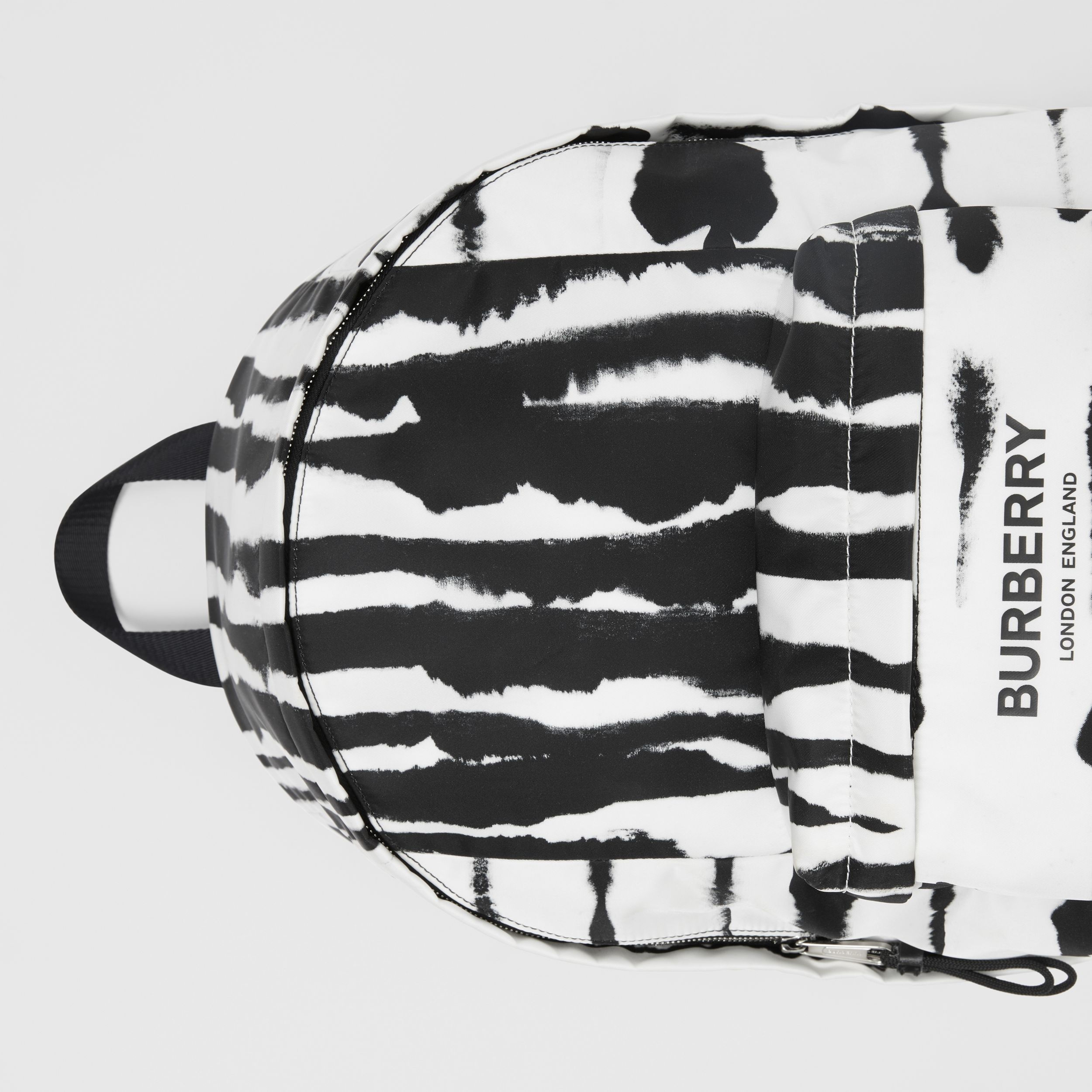 Watercolour Print ECONYL® Backpack in Black/white | Burberry - 2