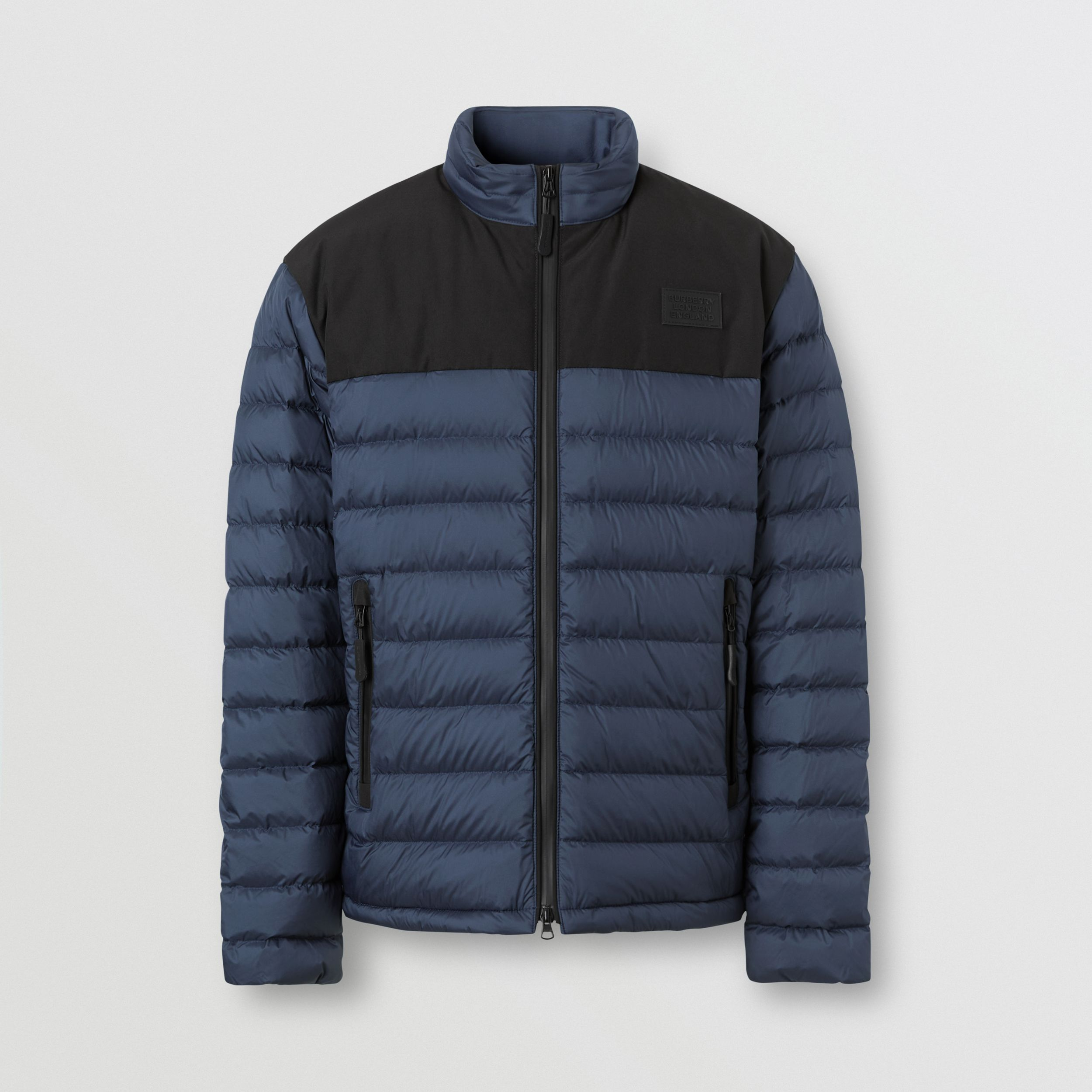 Logo Appliqué Lightweight Puffer Jacket in Navy - Men | Burberry Canada - 4