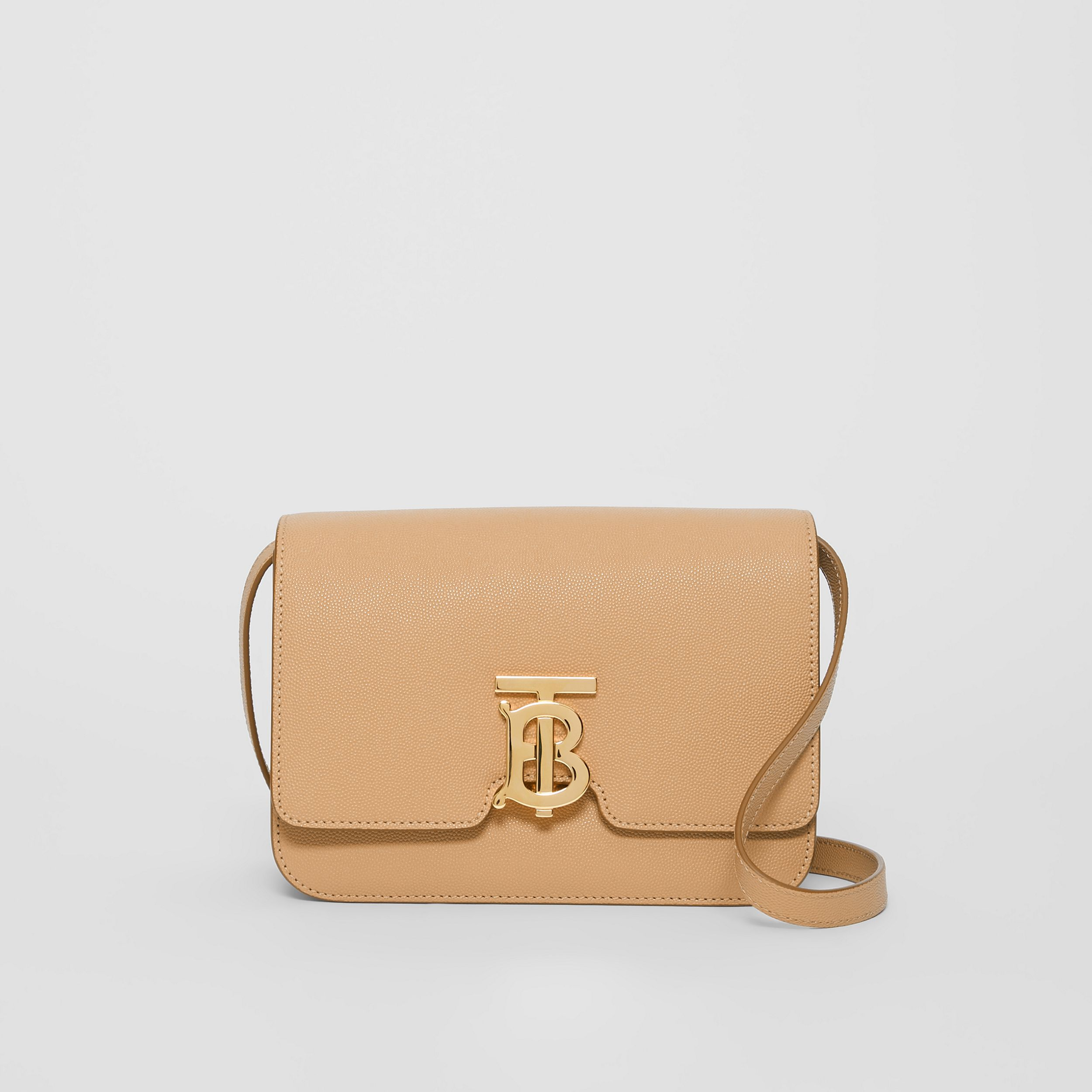 Small Grainy Leather TB Bag in Archive Beige - Women | Burberry - 1