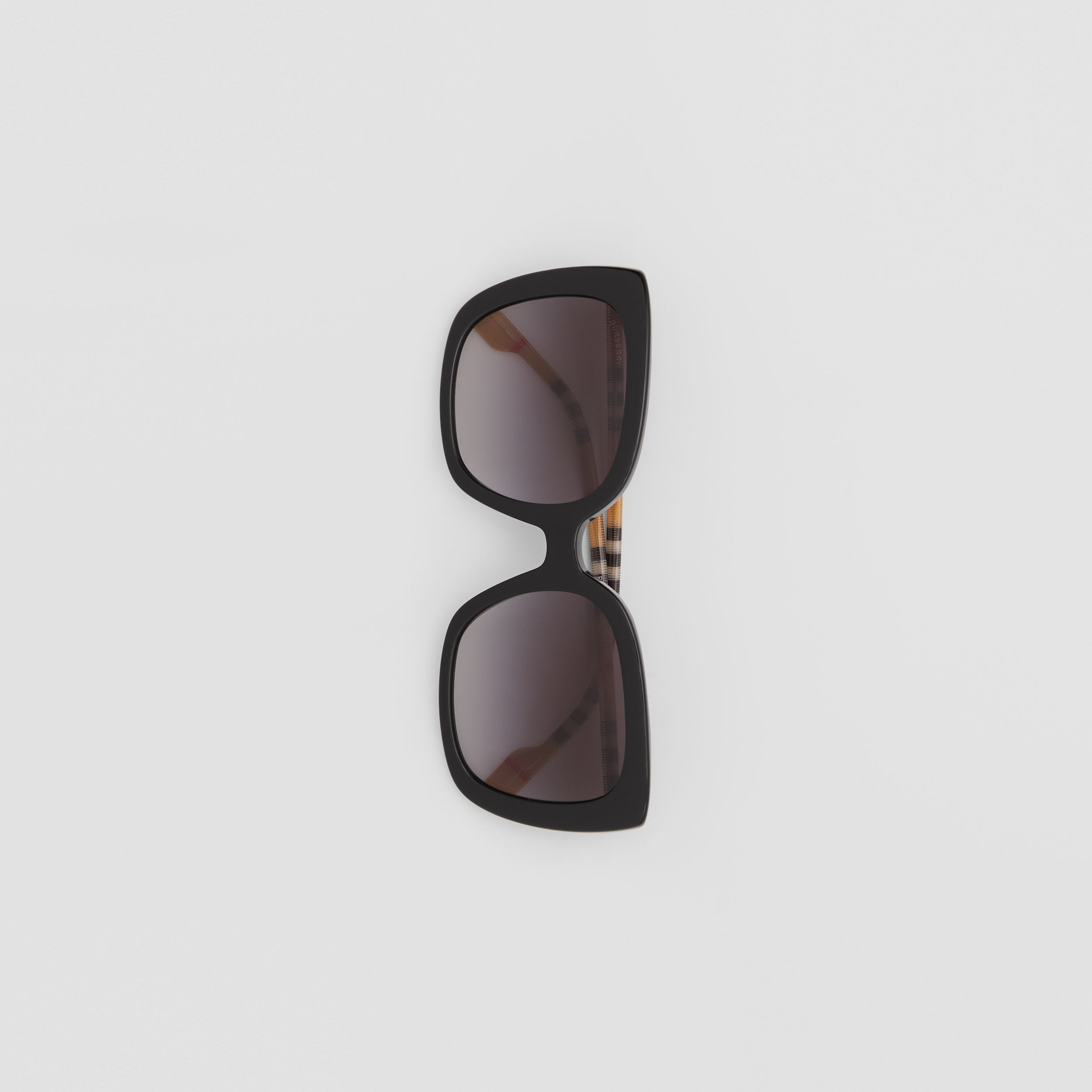 Oversized Square Frame Sunglasses in Black - Women | Burberry - 4