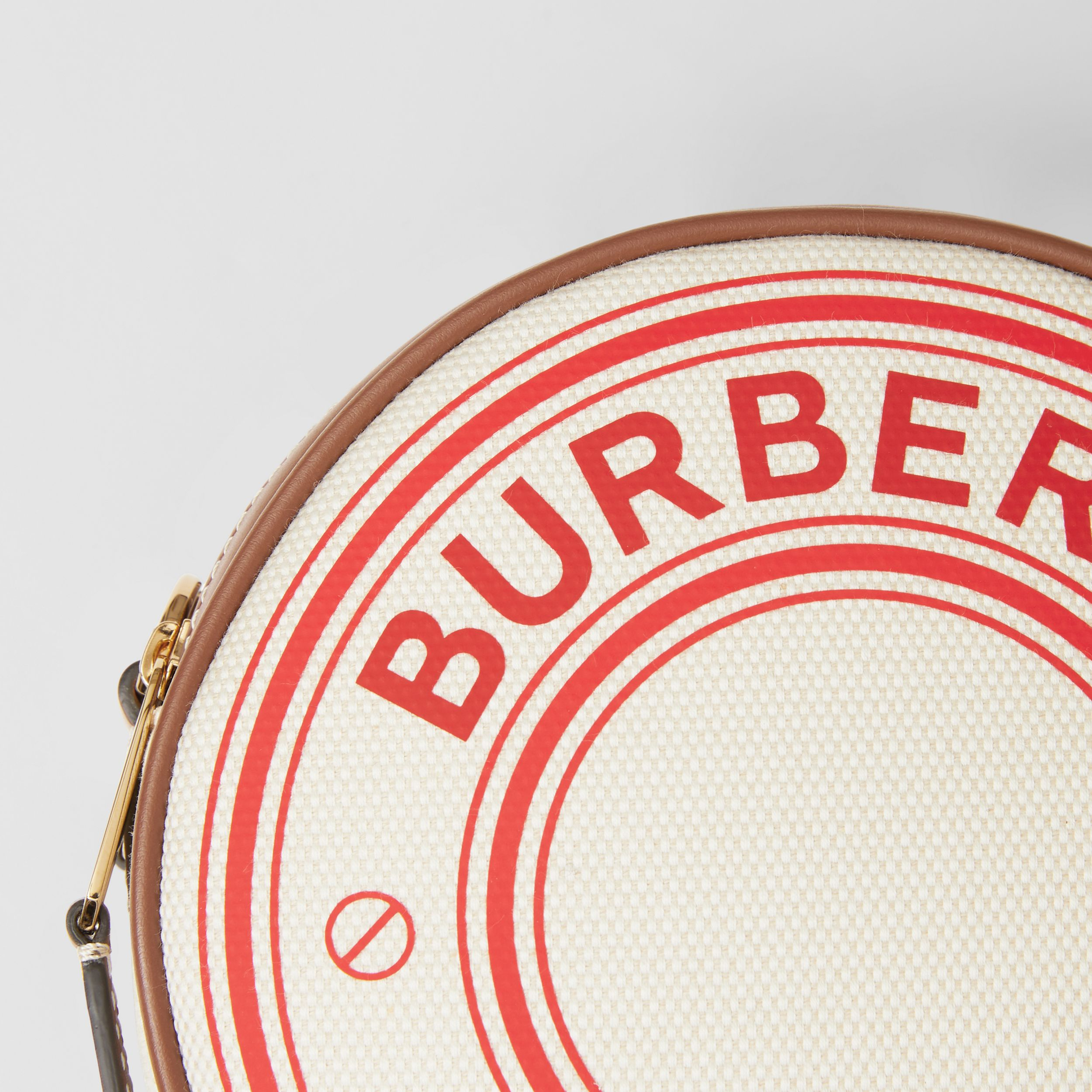 Logo Graphic Canvas and Leather Louise Bag in Natural/tan/fiery Red - Women | Burberry United States - 2