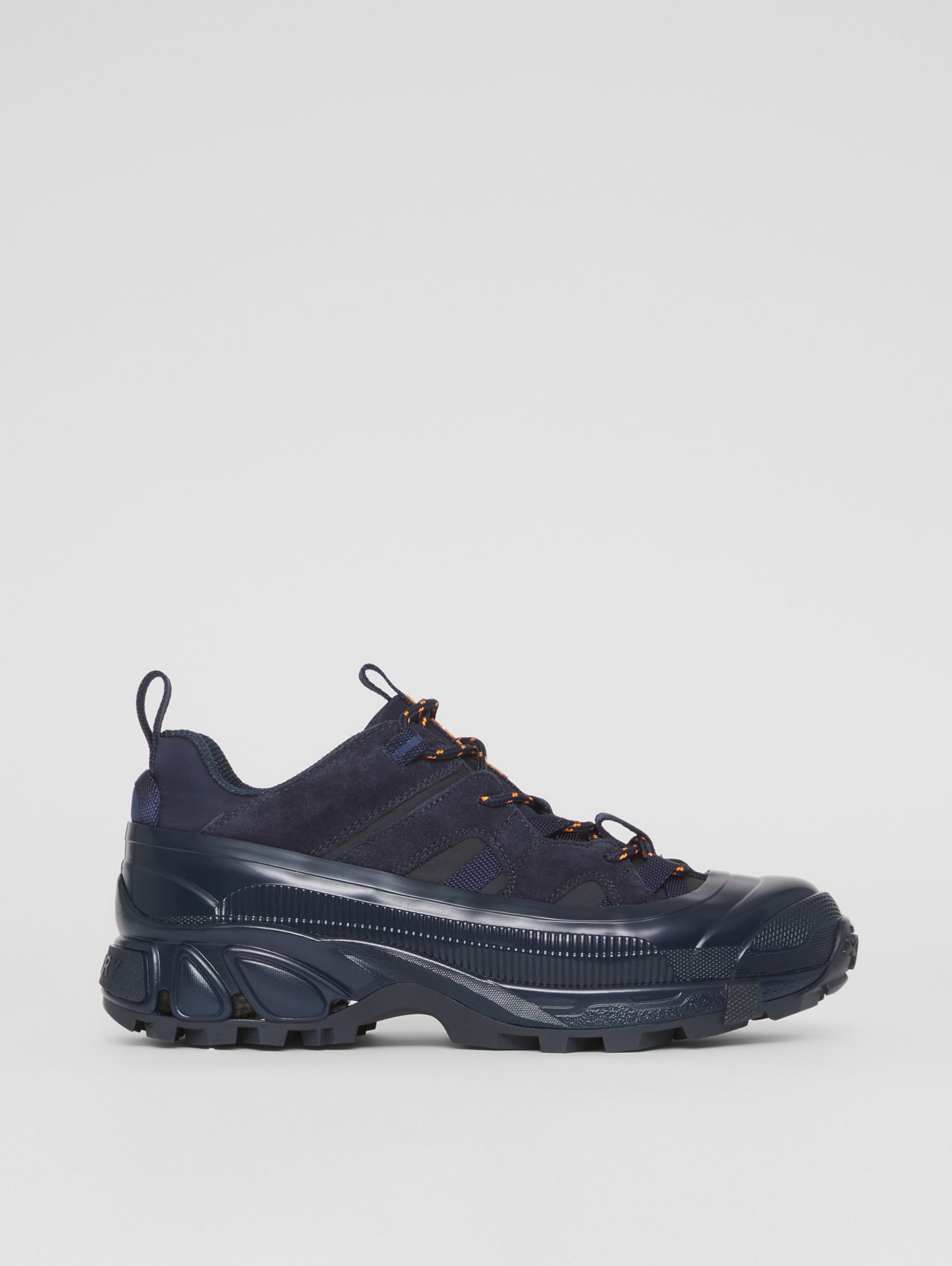 Nylon and Suede Arthur Sneakers – Online Exclusive in Navy