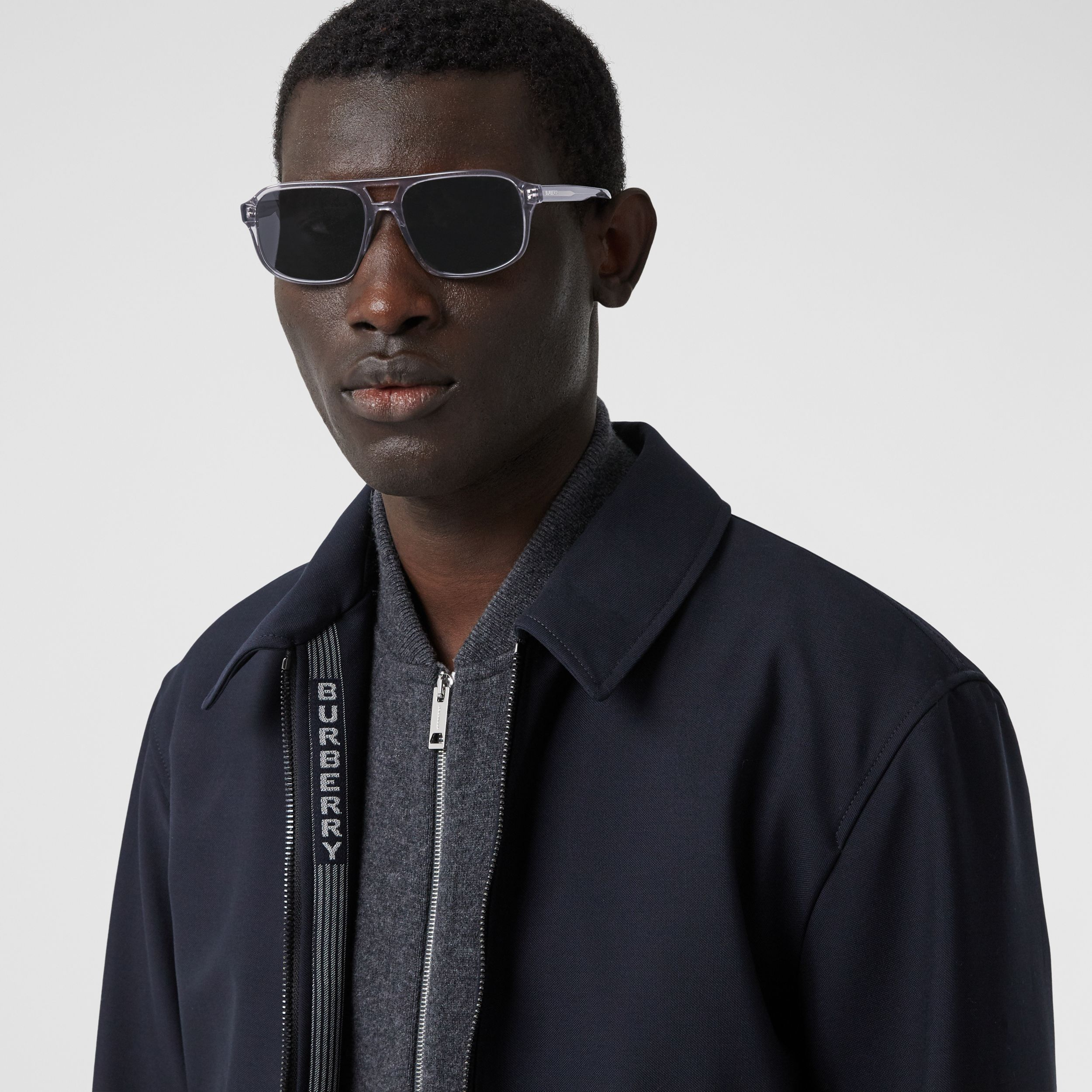 Square Frame Sunglasses in Grey - Men | Burberry - 3