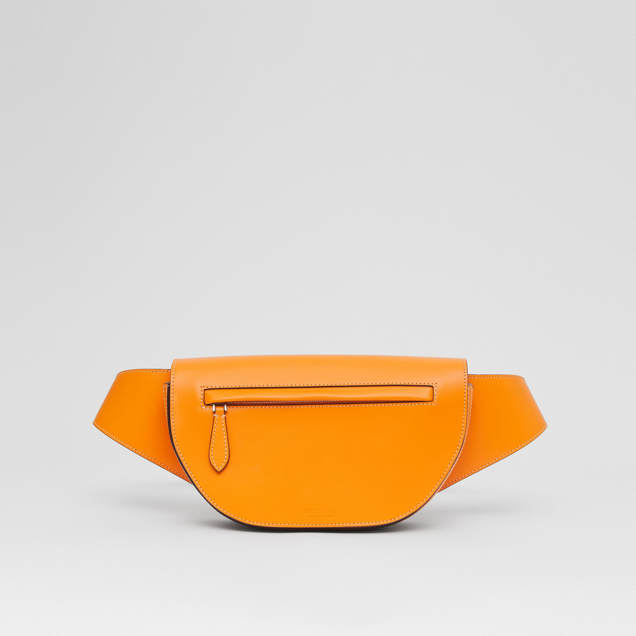Small Leather Olympia Bum Bag in Deep Orange - Men | Burberry - 1